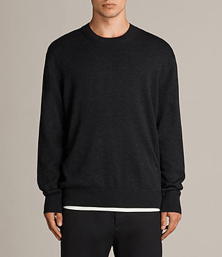 Mens Blake Crew Sweater (Cinder Black Marl) - product_image_alt_text_1