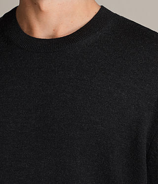 Hombre Jersey Blake Crew (Cinder Black Marl) - product_image_alt_text_2