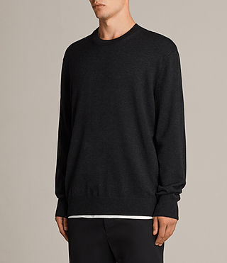 Hombre Jersey Blake Crew (Cinder Black Marl) - product_image_alt_text_3