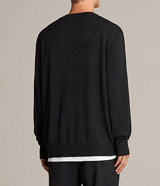 Mens Blake Crew Sweater (Cinder Black Marl) - product_image_alt_text_4