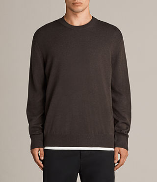 Mens Blake Crew Sweater (Khaki Brown) - product_image_alt_text_1