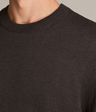 Mens Blake Crew Sweater (Khaki Brown) - product_image_alt_text_2