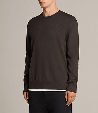 Mens Blake Crew Sweater (Khaki Brown) - product_image_alt_text_3