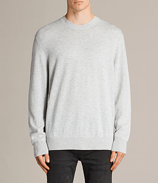 Men's Blake Crew Jumper (Light Grey Marl) - product_image_alt_text_1