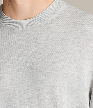 Men's Blake Crew Jumper (Light Grey Marl) - product_image_alt_text_2