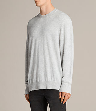 Men's Blake Crew Jumper (Light Grey Marl) - product_image_alt_text_3