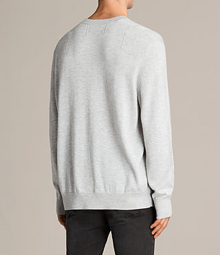 Men's Blake Crew Jumper (Light Grey Marl) - product_image_alt_text_4