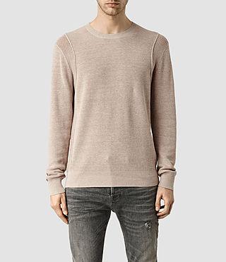 Mens Kett Crew Sweater (Sandstone Pink)