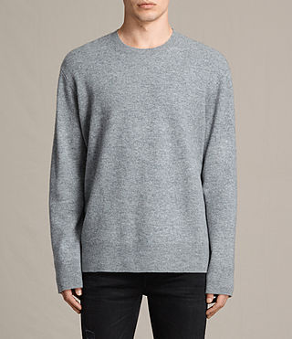 Mens Ayker Crew Sweater (Grey Marl)