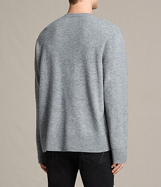 Mens Ayker Crew Sweater (Grey Marl) - product_image_alt_text_3