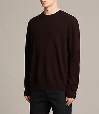 Herren Ayker Crew Jumper (Maroon Red) - product_image_alt_text_2