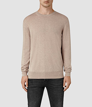 Hommes Leithen Crew Jumper (Taupe Marl)
