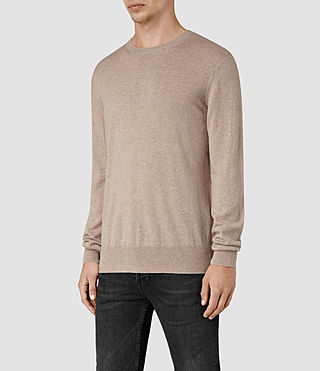 Uomo Leithen Crew Jumper (Taupe Marl) - product_image_alt_text_2