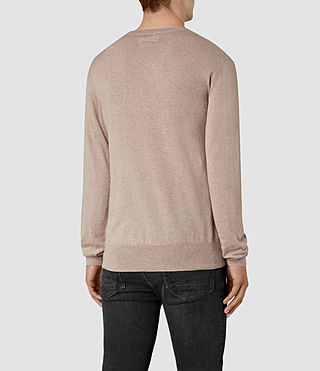 Uomo Leithen Crew Jumper (Taupe Marl) - product_image_alt_text_3