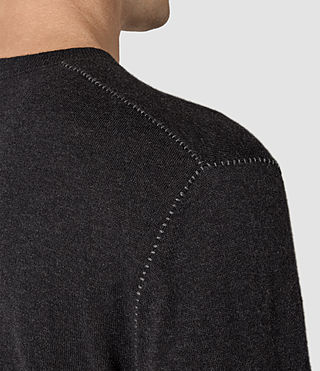 Mens Leithen Crew Jumper (Cinder Black Marl) - product_image_alt_text_2