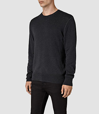 Mens Leithen Crew Jumper (Cinder Black Marl) - product_image_alt_text_3