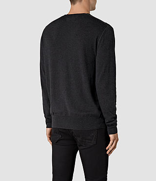 Mens Leithen Crew Jumper (Cinder Black Marl) - product_image_alt_text_4