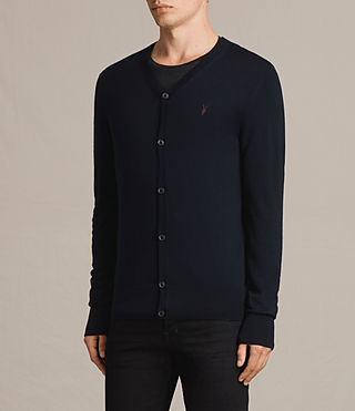 Hombres Mode Merino Cardigan (INK NAVY) - product_image_alt_text_3