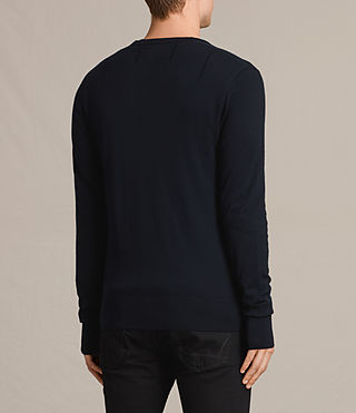 Hombres Mode Merino Cardigan (INK NAVY) - product_image_alt_text_4