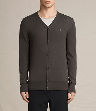 Hombres Mode Merino Cardigan (Military Brown) -