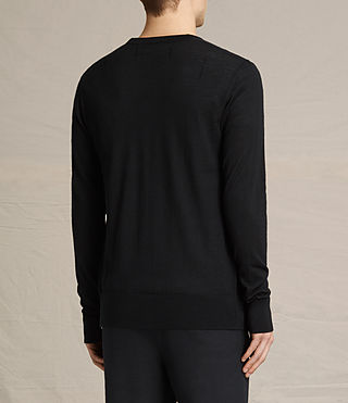Herren Mode Merino Cardigan (Black) - product_image_alt_text_3