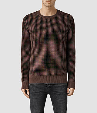 Men's Eydon Crew Jumper (Rum Red/Bitter Mrl)
