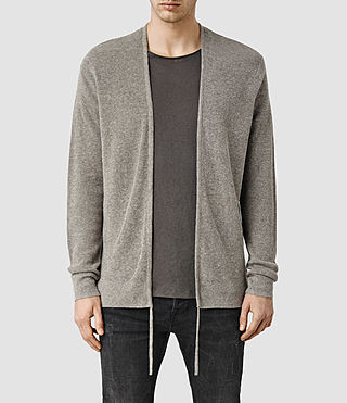 Mens Tine Cardigan (Military Grey)