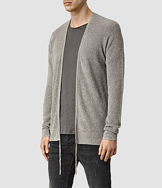 Uomo Tine Cardigan (Military Grey) - product_image_alt_text_2
