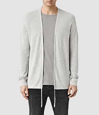 Mens Tine Cardigan (Light Grey Marl) - product_image_alt_text_1