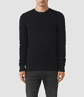 Hommes Kargg Crew Jumper (INK NAVY) -