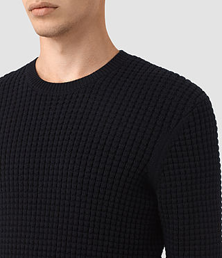 Hombres Kargg Crew Jumper (INK NAVY) - product_image_alt_text_2