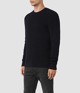 Hommes Kargg Crew Jumper (INK NAVY) - product_image_alt_text_3