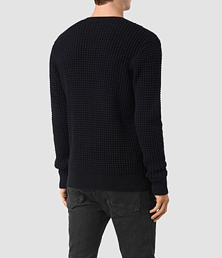 Hommes Kargg Crew Jumper (INK NAVY) - product_image_alt_text_4
