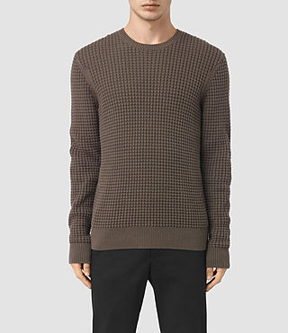 Hommes Kargg Crew Jumper (Pewter Brown)