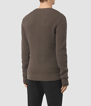 Hombres Kargg Crew Jumper (Pewter Brown) - product_image_alt_text_4