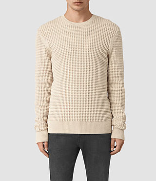 Hombre Kargg Crew Sweater (Ecru Taupe Marl) - product_image_alt_text_1