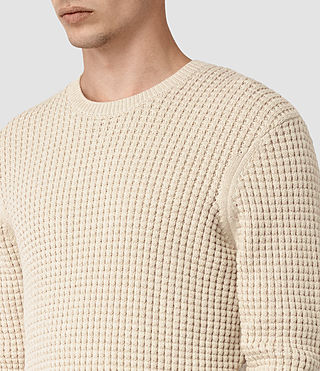 Hombre Kargg Crew Sweater (Ecru Taupe Marl) - product_image_alt_text_2