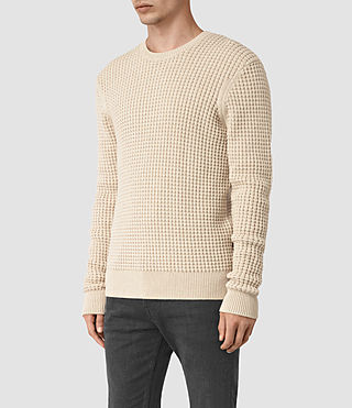 Hombre Kargg Crew Sweater (Ecru Taupe Marl) - product_image_alt_text_3