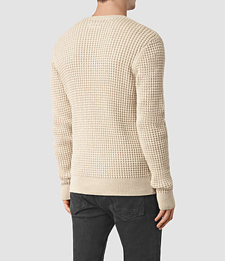 Hombre Kargg Crew Sweater (Ecru Taupe Marl) - product_image_alt_text_4