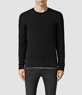 Mens Kargg Crew Sweater (Black) - product_image_alt_text_1