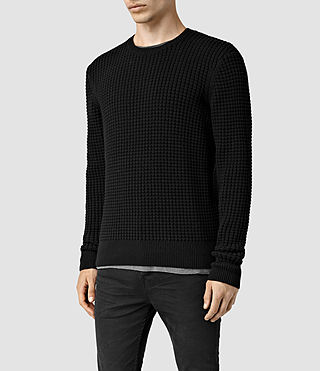 Mens Kargg Crew Sweater (Black) - product_image_alt_text_2