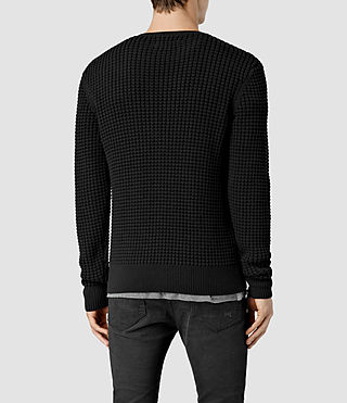 Mens Kargg Crew Sweater (Black) - product_image_alt_text_3