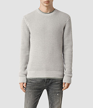 Hommes Kargg Crew Jumper (Light Grey Marl)