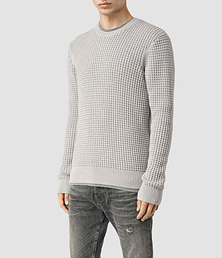 Men's Kargg Crew Jumper (Light Grey Marl) - product_image_alt_text_2