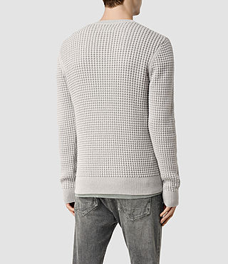 Men's Kargg Crew Jumper (Light Grey Marl) - product_image_alt_text_3