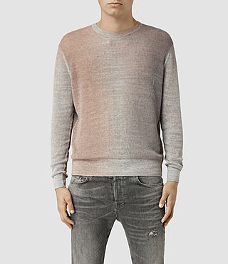 Mens Solstice Crew Sweater (QUTZ PNK/STEPL GRY)