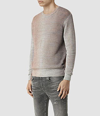 Mens Solstice Crew Sweater (QUTZ PNK/STEPL GRY) - product_image_alt_text_2