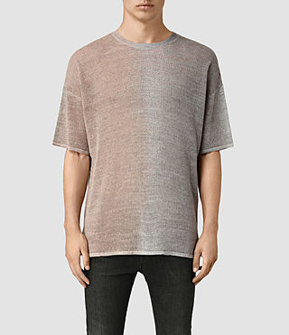 Mens Solstice Knitted T-Shirt (QUTZ PNK/STEPL GRY) - product_image_alt_text_1