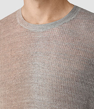 Mens Solstice Knitted T-Shirt (QUTZ PNK/STEPL GRY) - product_image_alt_text_2