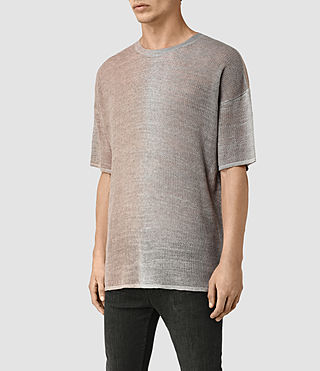 Men's Solstice Knitted T-Shirt (QUTZ PNK/STEPL GRY) - product_image_alt_text_3